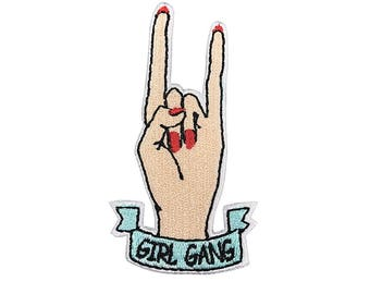 girl gang patch Embroidered sew on patch iron on patch No.340