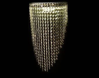RING WALL FAT Crystal Chandelier, Swarovski By Request, Modern, Elegant,  Luxury,