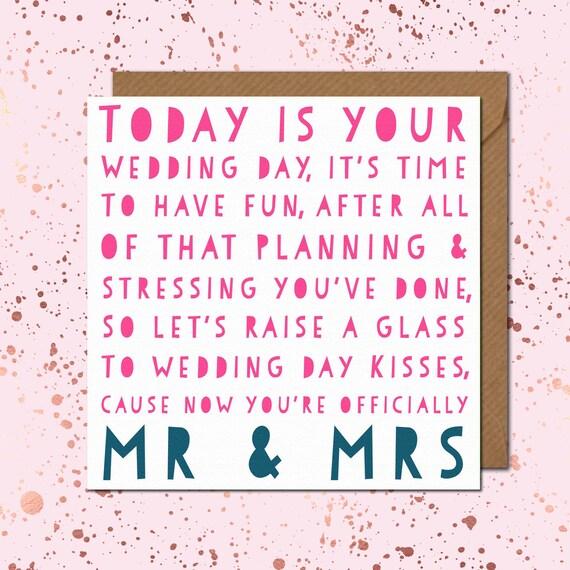 Poem Wedding Card Day