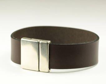 Bracelets For Men, Brown Mens Leather Bracelet, Leather Cuff Bracelet, Men's Jewelry, Free Shipping-Leather Bracelet, Jewellery For Men