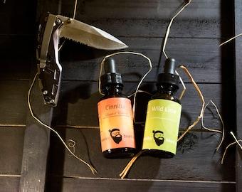 Dual Collection - Cinnilla & Wild Lime Beard Oil 1oz each - Beard Moisturizer, Beard Conditioner, Beard Care