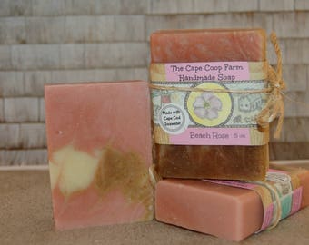 Beach Rose handmade soap, cold process soap, natural soap