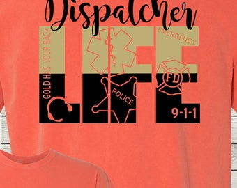911 Dispatcher Shirt Telecommunications Officer Monogrammed Customized Shirt Personalized