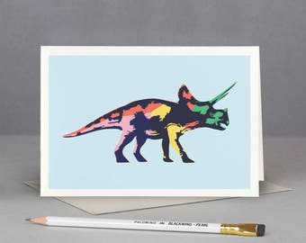 Triceratops Dinosaur Card