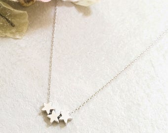 Starry Skies (3 Star) Necklace ~ Silver/Gold/RoseGold