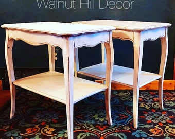 SOLD  Farmhouse Style End Tables