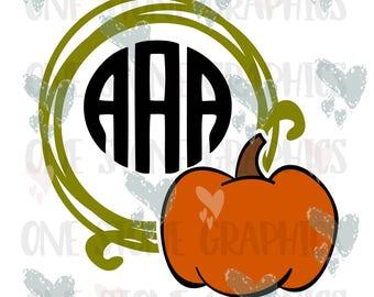 Pumpkin monogram svg,dxf,jpeg,eps,Pumpkin svg file,monogram frame svg,halloween svg,thanksgiving svg,fall svg,pumpkin monogram frame,svg