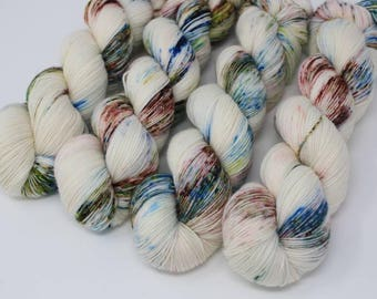 Stepping Stones, fingering weight, hand dyed yarn, indie dyed, superwash wool, merino wool, sock yarn, hand painted, yarn