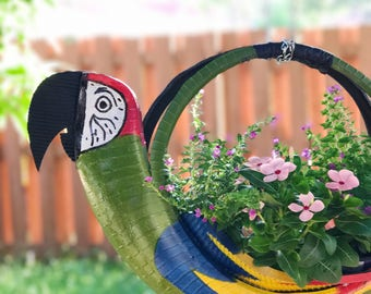 Recycled tire feeder - bird feeder - garden planter - outdoor planter - indoor planter - garden ideas - garden ideas - garden decor