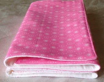 Pink Burping Cloths