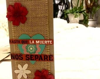 Hasta Que La Muerte Nos Separe- Till Death Do Us Part Blank Greeting Card