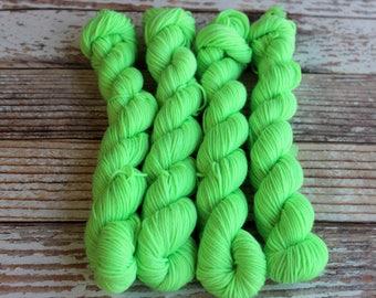 Kryptonite - Mini Skein 20g - Hand Dyed Yarn - 75/25 Superwash Merino/Nylon