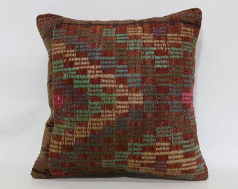 20x20 Decorative Kilim Pillow Sofa Pillow Naturel Kilim Pillow 20x20 Turkish Kilim Pillow Cushion Cover Ethnic Pillow SP5050-1871