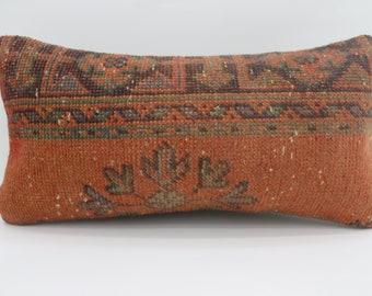 12x24 Geometric Rug Pillow Floral Pillow 12x24 Lumbar Pillow Black Striped  Pillow Green and Red Pillow Cushion Cover SP3060-1755