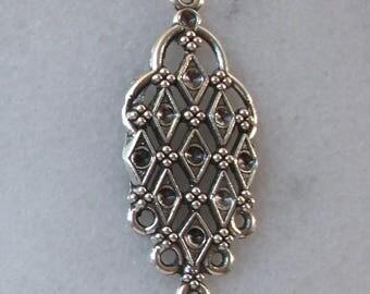 1 connector Chandelier bomb 45x19mm Tibetan silver for pierced ear Earrings