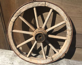 Antique Wood Wagon Wheel