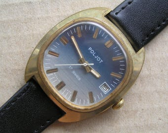 Wrist RUSSIAN VINTAGE Watch Ussr Poljot 17 jewels