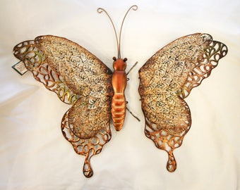 Large Metal Butterfly Wall Decor