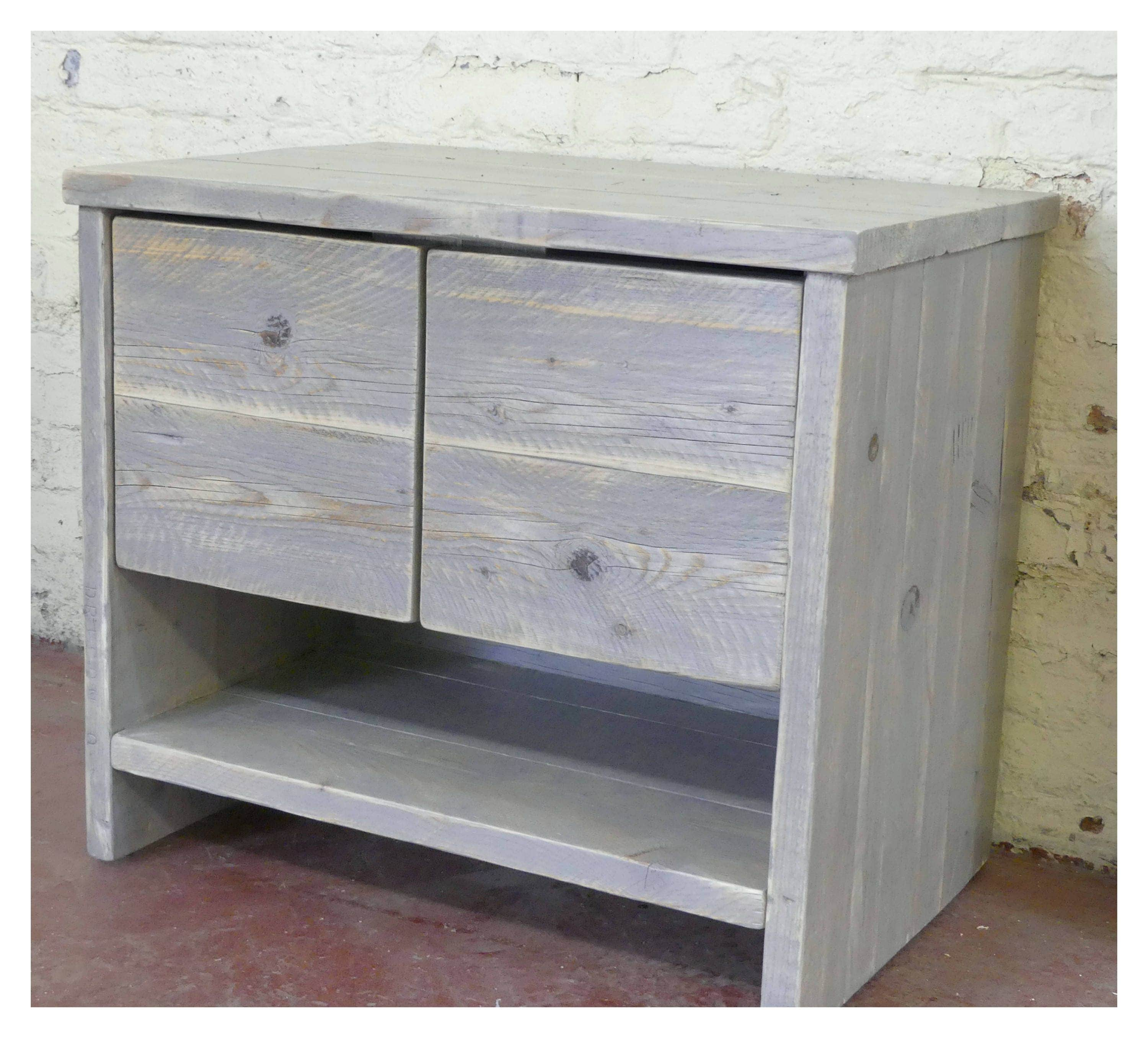 Glasgow Reclaimed Wood Washstand Handmade Bespoke