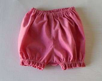 Velvet bloomers pink medium T 3 and 6 months