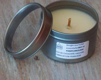 """Candle with essential oils """"Grapefruit"""""""