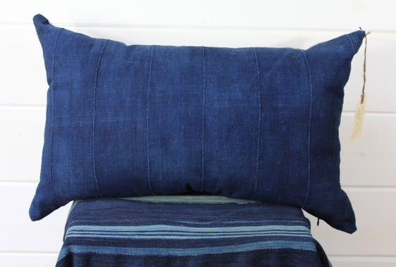 Indigo Mud Cloth Pillow Cover