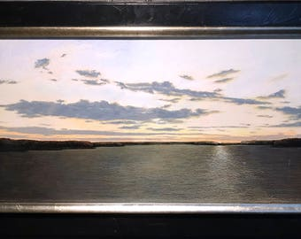 ADDISON PALMER Original Acrylic on Board Painting, Framed, Tru-Vue Museum, COA