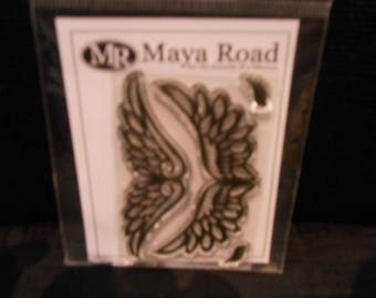 Clear Acrylic Angel Wing Stamps Set of 2 by Maya Road