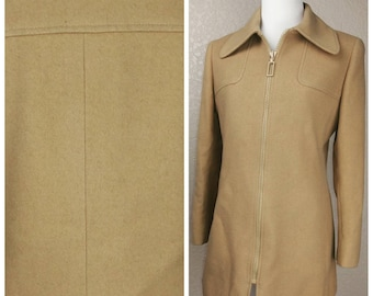 Clearance *** Gorgeous Vintage Wool and Camel Coat by Jaeger