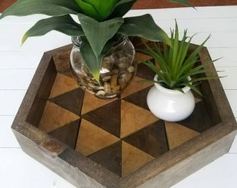 Hexagon Table Tray