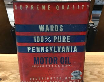 Montgomery Ward Motor Oil Can