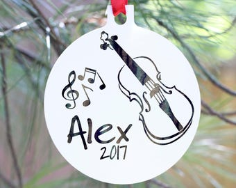 Violinist Personalized Ornament, Violin Ornament, Personalized Violin Christmas Ornament, Violin Player Christmas Ornament, Musician Gift