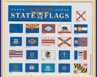 U.S. State Flags Decals