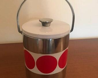 Vintage Japanese ice bucket retro 1970s 70s  1960s 60s mid century kitchenware