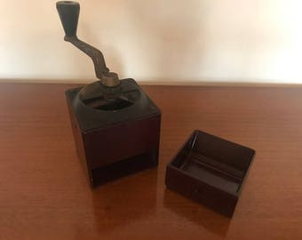 Antique French bakelite coffee grinder / 1930s / vintage