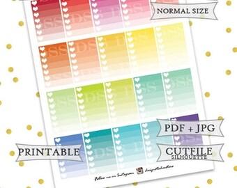 50% OFF SALE Happy Planner Ombre Checklist/Happy Planner Stickers/Mambi Planner Stickers/Printable Happy Planner Stickers/Printable Mambi
