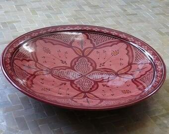 Moroccan ceramic plate Metal deco Orient handicraft Morocco, Ø 40 cm