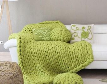 couverture en laine etsy. Black Bedroom Furniture Sets. Home Design Ideas