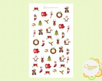 Christmas Planner Stickers, Christmas Stickers, Planner Stickers, Erin Condren Life Planner