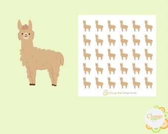 Llama Stickers, Cute Animal Stickers, Planner Stickers