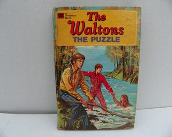 A Whitman Book - The Waltons - The Puzzle - First Edition 1975 , Children's Story Picture Book , Kid's Bedtime Story , 1970's Television