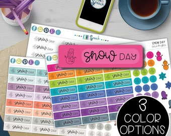 Snow Day Planner Stickers for SLPs, Teachers, Special Education, and Parents