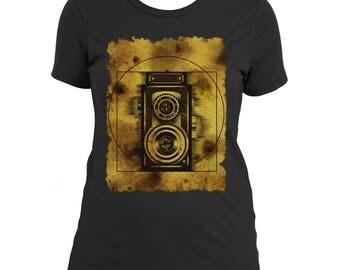 VITRUVIAN CAMERA - Women's Artwear T-shirt