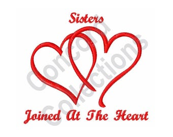 Sisters Hearts - Machine Embroidery Design