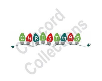 Christmas Lights - Machine Embroidery Design