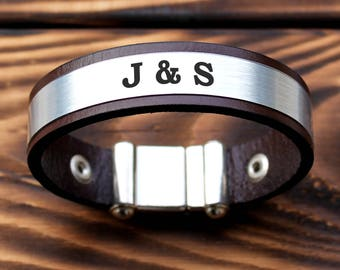 Personalized Bracelet, initial personalized Bracelets, Matching Bracelets, letters personalized bracelet, boyfriend bracelet, husband gifts