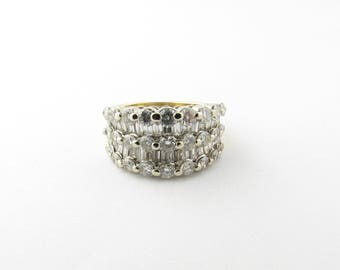 Vintage 18 Karat Yellow Gold Diamond Ring Size 5.25 #2382