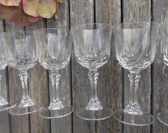 Service of 6 glasses French liqueur-6 new liqueur glasses of the years 70-small glasses on foot for digestive French