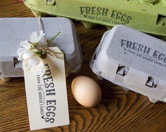 Customizable Egg Carton Stamp - Fresh Eggs - Fits all Carton Sizes