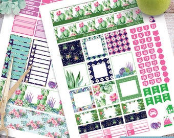 Cactus Succulents Monthly Kit planner stickers Printable, HAPPY PLANNER STICKERS,Hp Monthly Kit,Cactus Hp Planner Stickers Instant Download